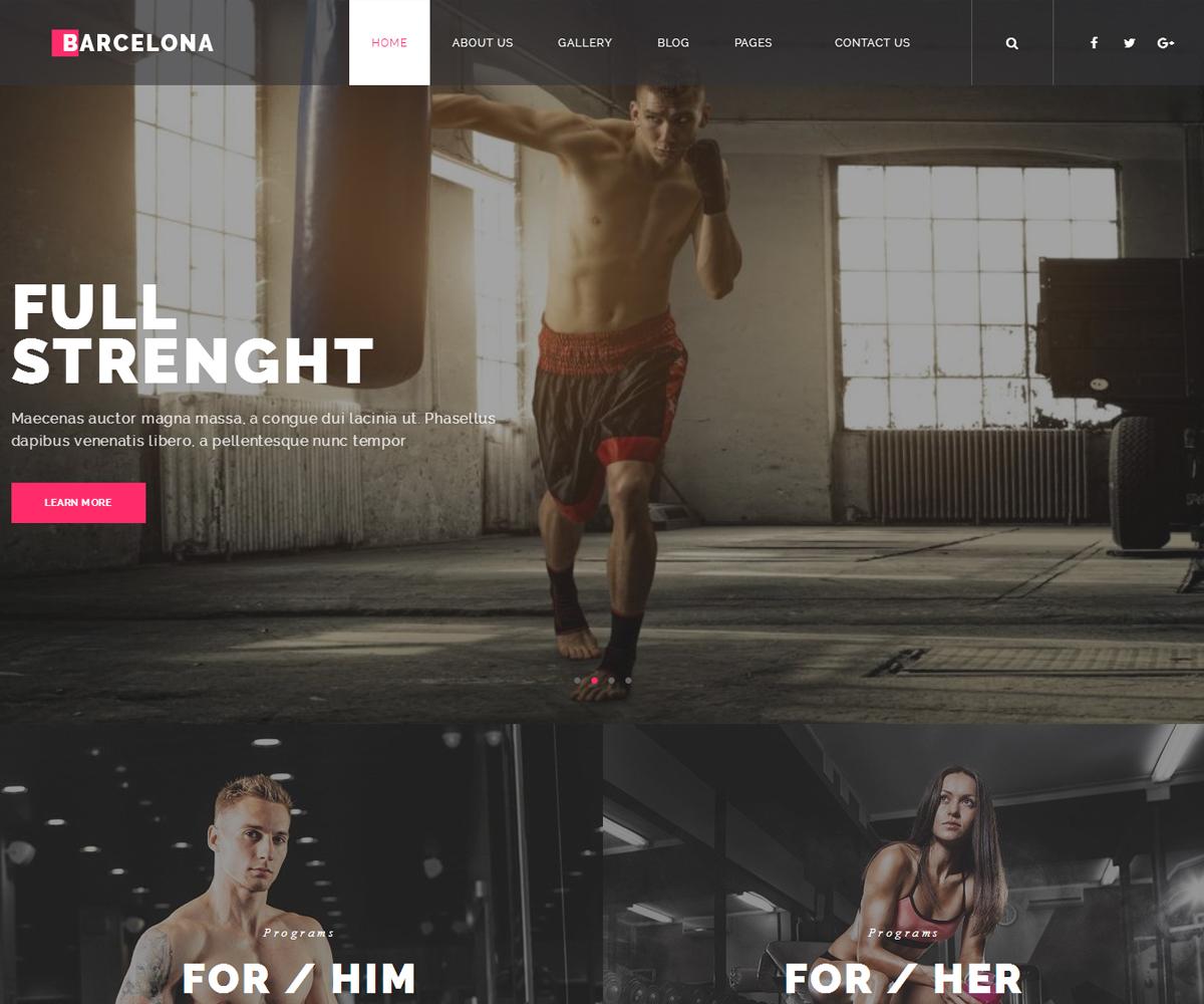 Barcelona – Gym & Fitness WordPress Theme