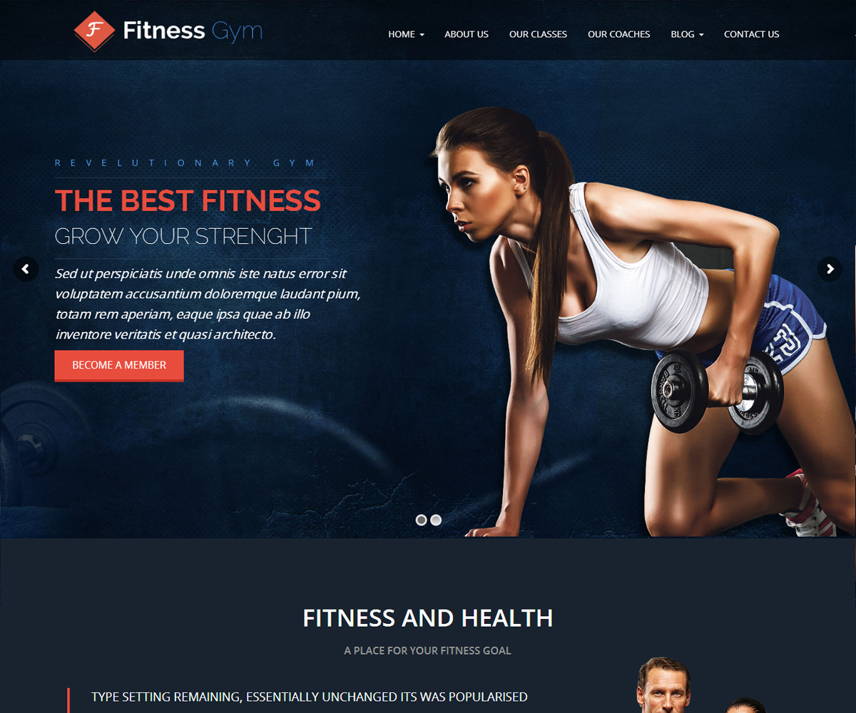 FItness - Theme for Fitness Gym and Fitness Centers