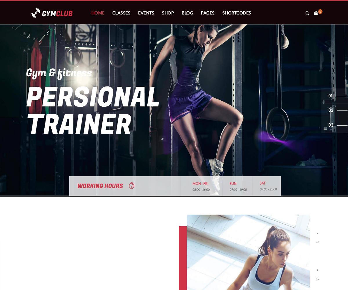 GymClub - Gym & Fitness WordPress Theme