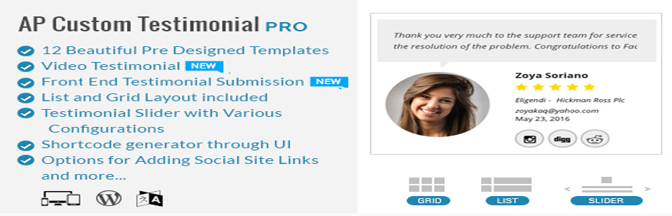 AP | Custom Testimonials for WordPress