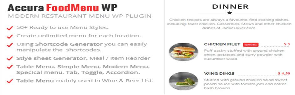Accura FoodMenu WP | WordPress food menu plugin