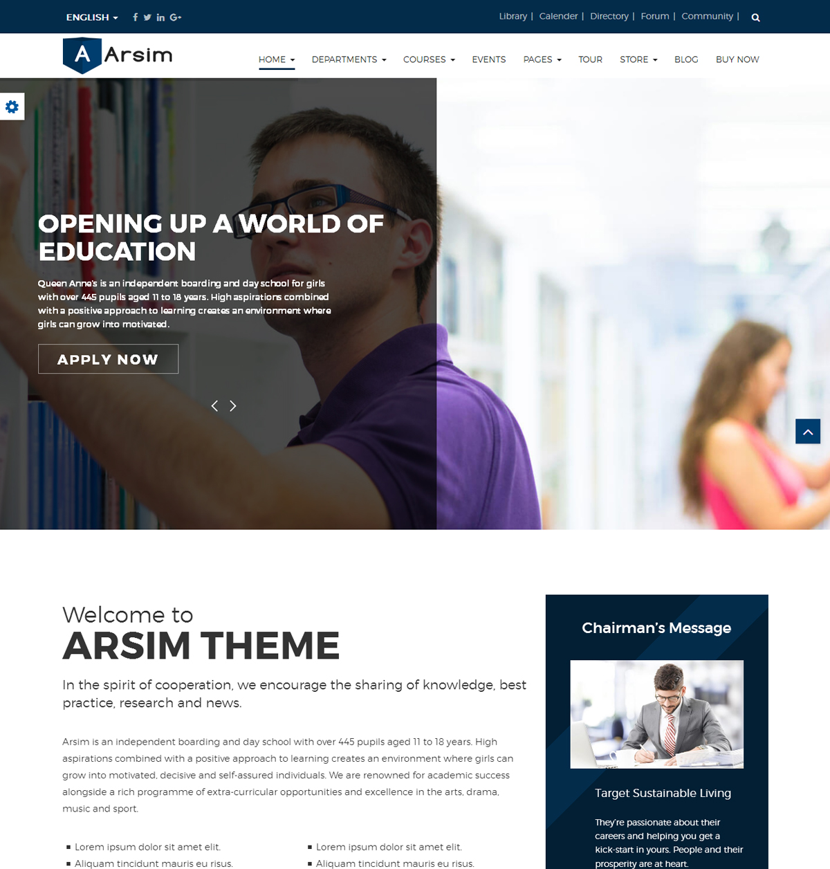 Arsim Education WordPress Theme