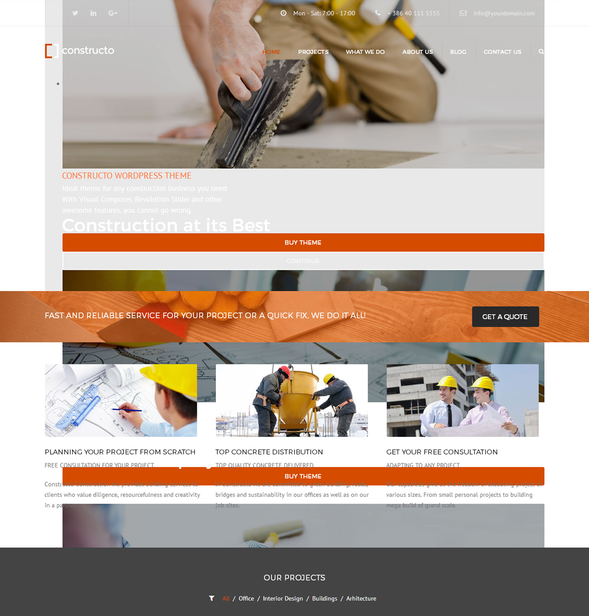Best WordPress theme for construction-company