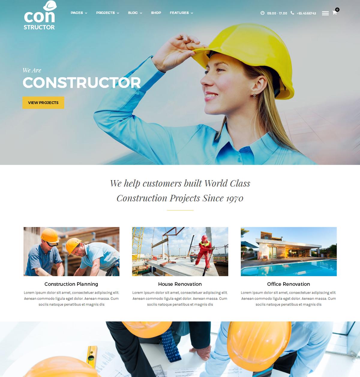 Constructor Construction WordPress Theme