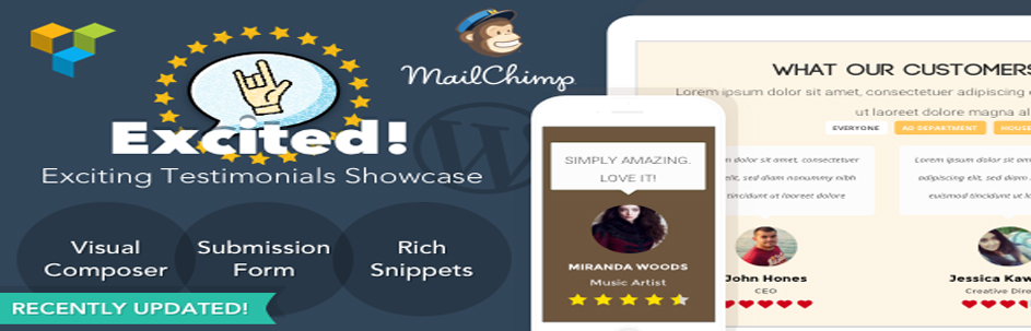 Excited! | Testimonials Showcase for WordPress