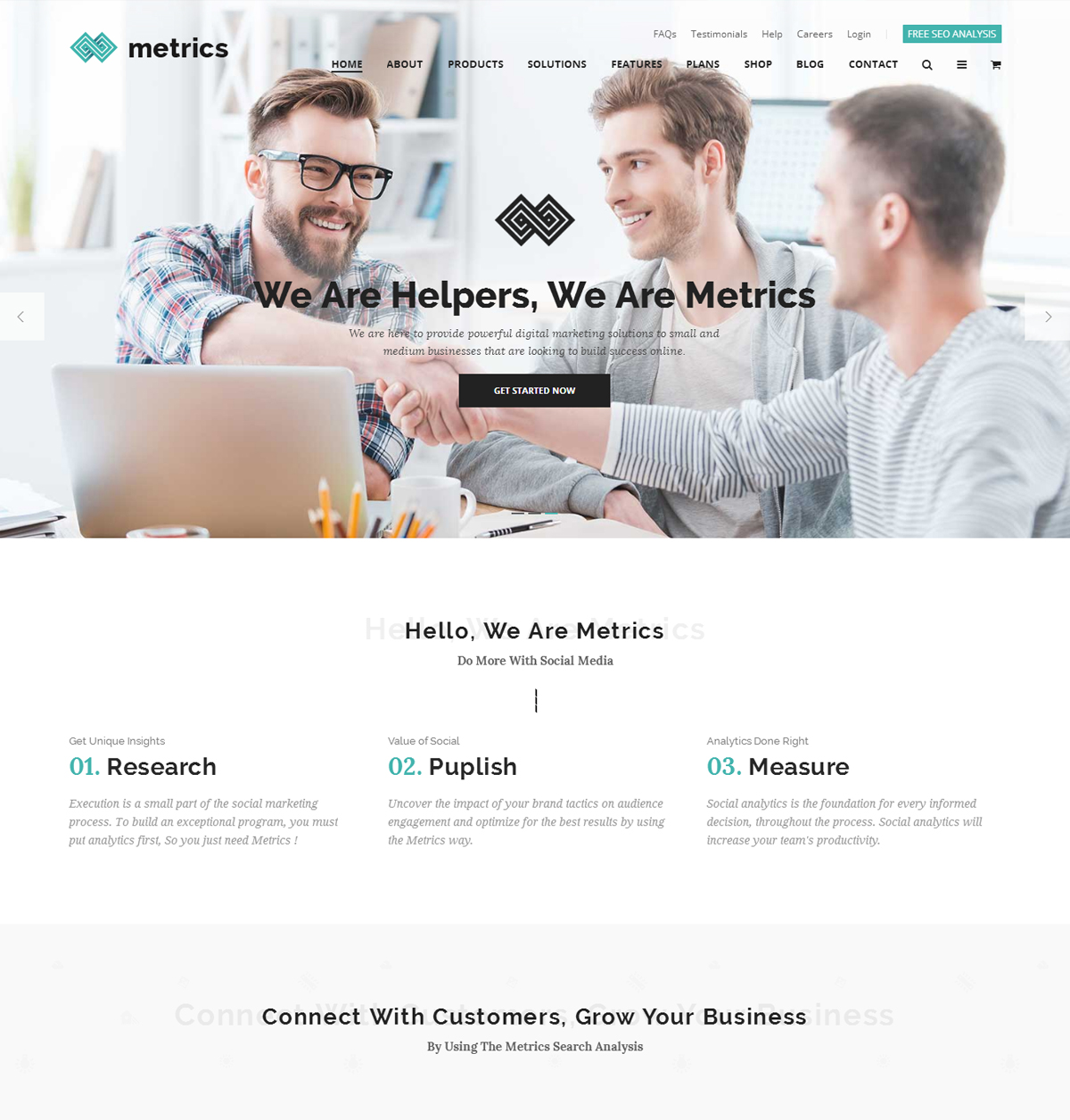 Metrics SEO Marketing WordPress Theme