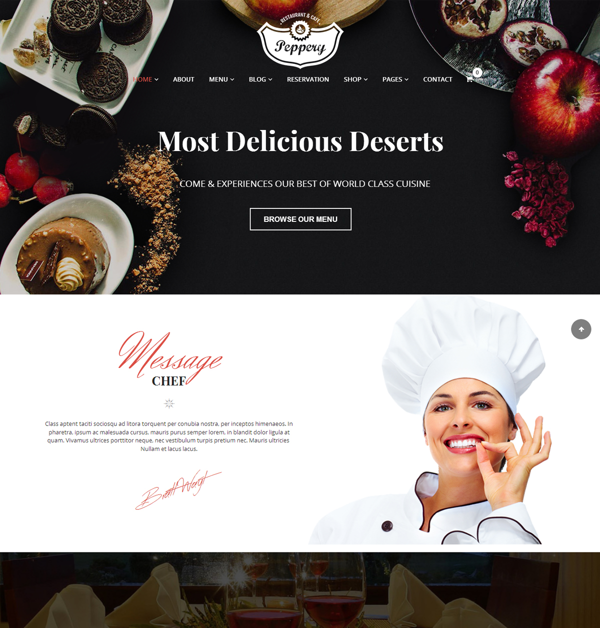 Peppery Restaurant Cafe WP Theme