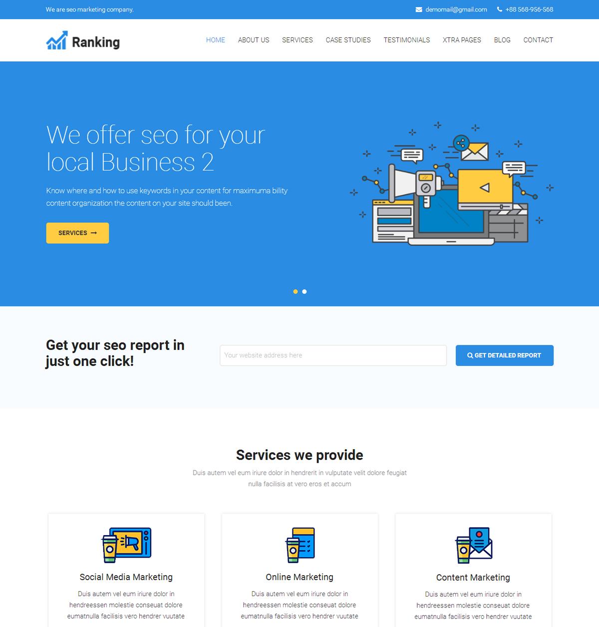 Ranking Marketing SEO WordPress theme