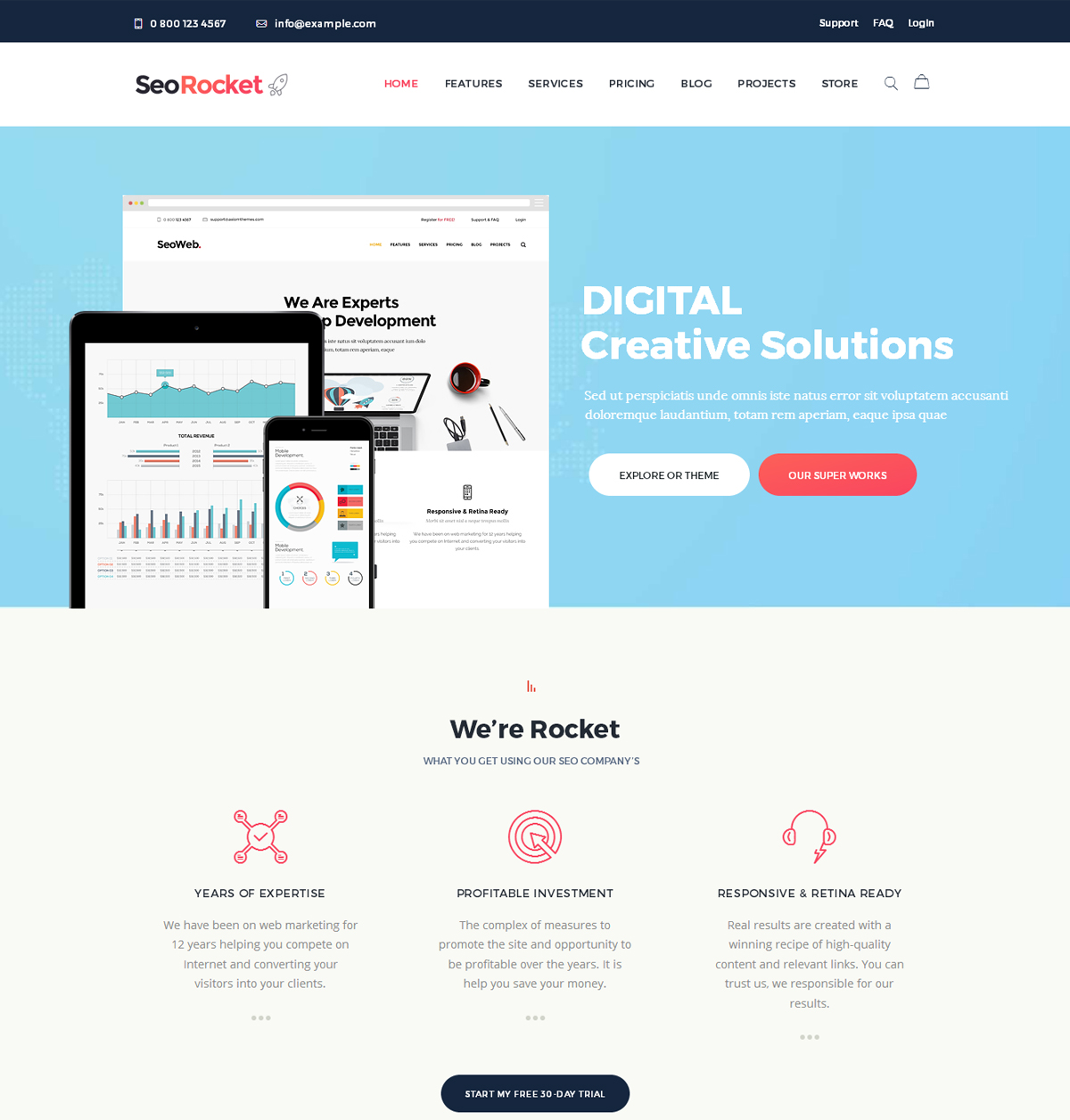 Seo Rocket SEO Marketing WordPress Theme