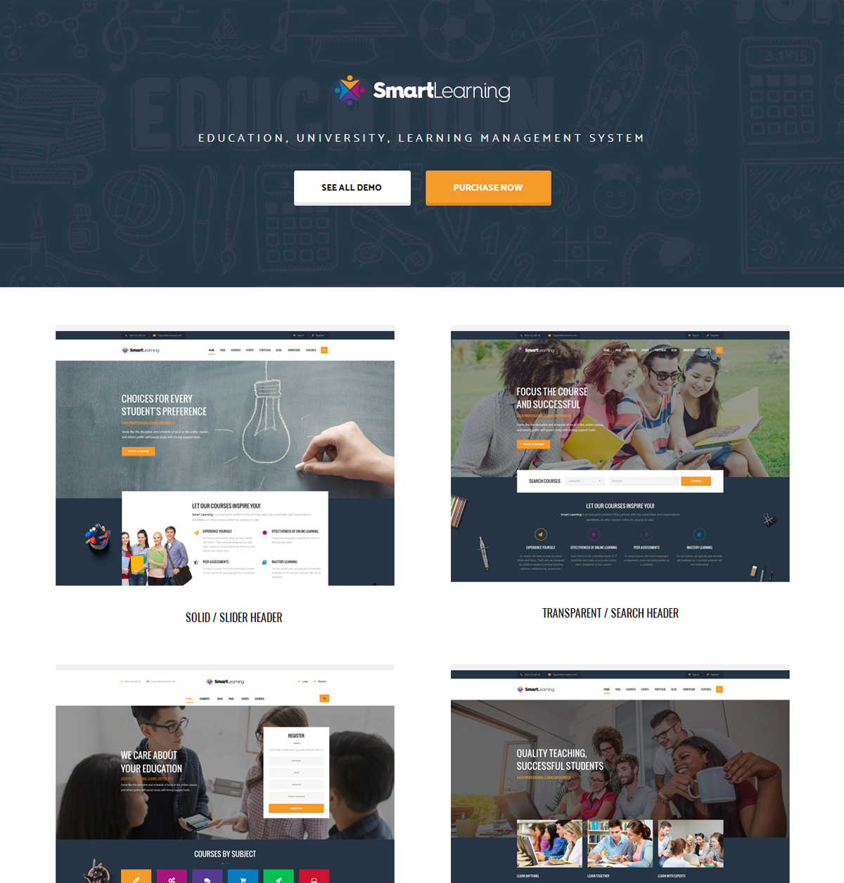 Smart Learning WordPress Theme