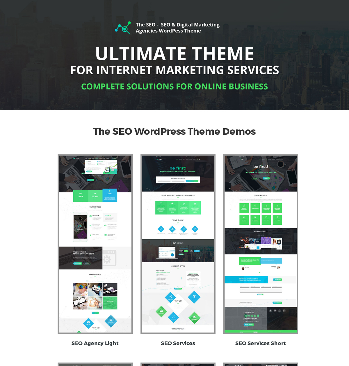 The SEO Marketing Agency WordPress Theme