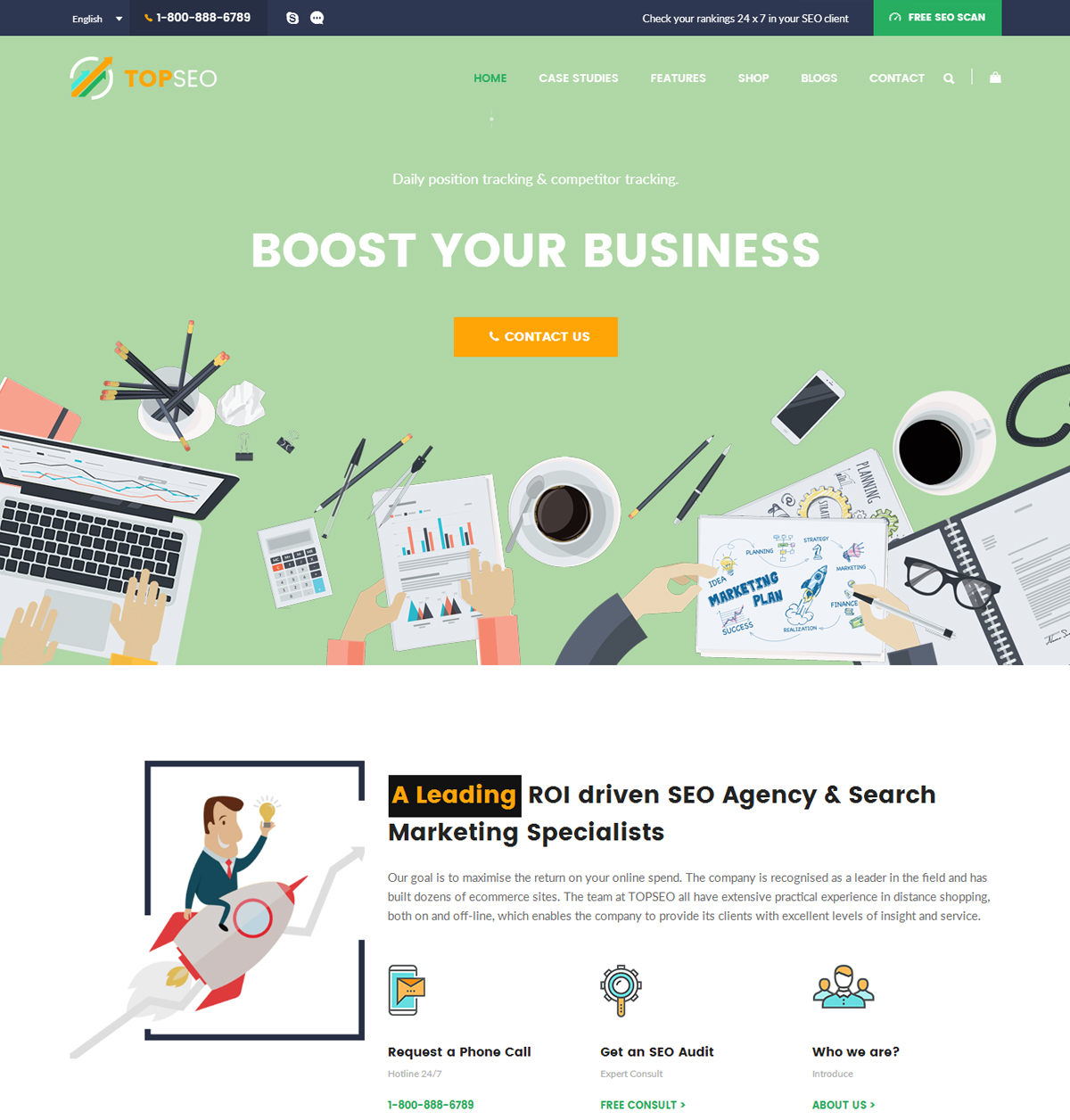 TopSEO WordPress Theme