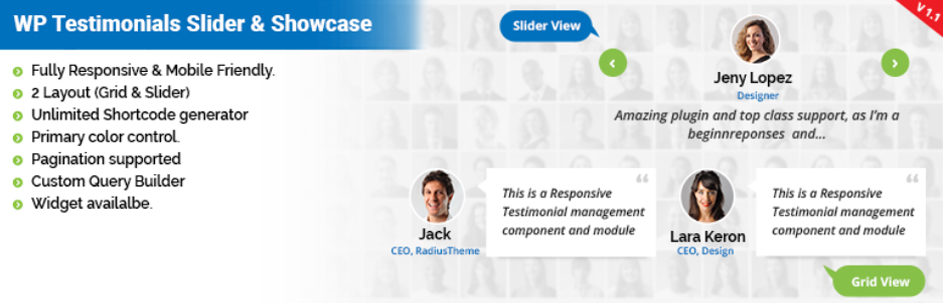 Testimonials Slider | WordPress testimonial slider plugin
