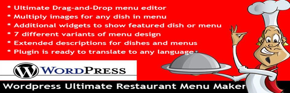 WordPress Ultimate Restaurant Menu Maker