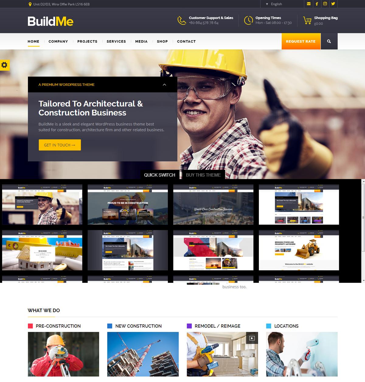 buildme WordPress Construction Theme