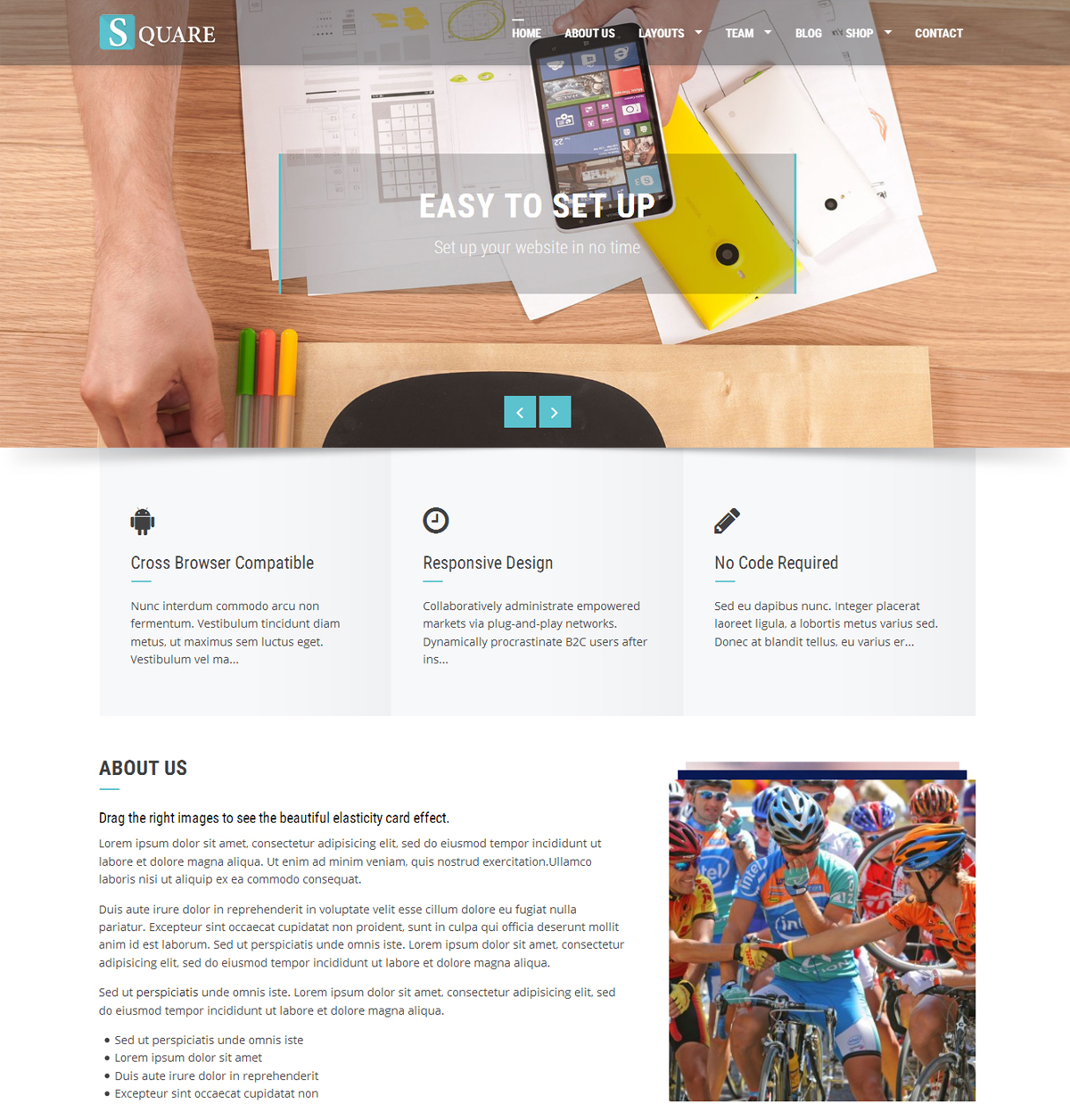Square WordPress theme