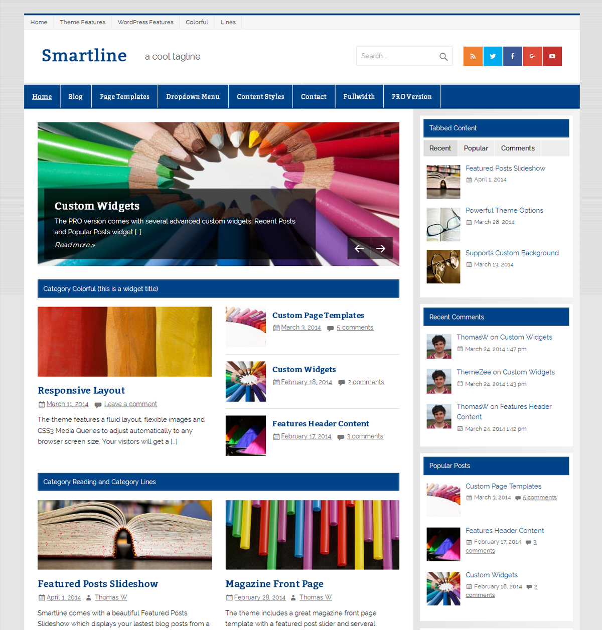 Smartline Lite WordPress theme